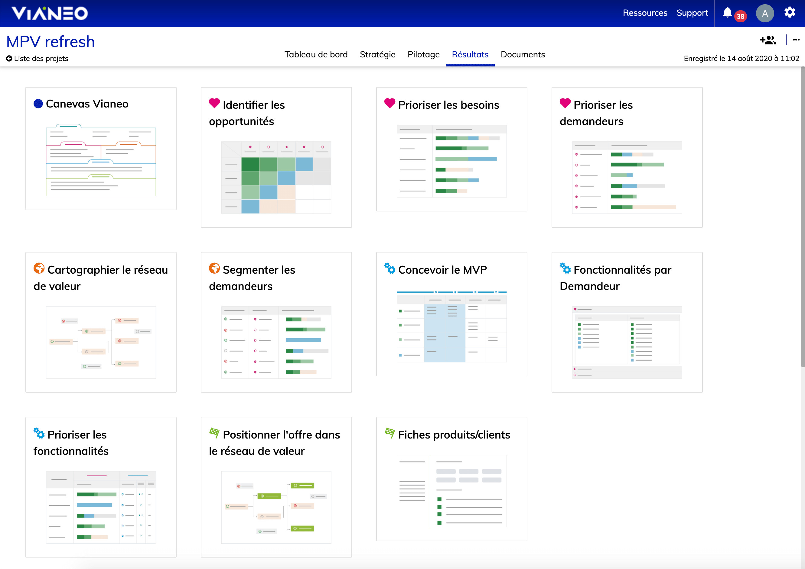 screenshot de la plateforme